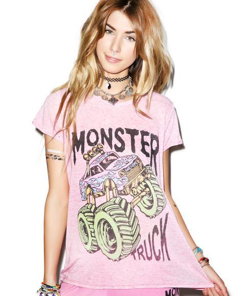 Edda Vintage Neon Monster Truck Tee