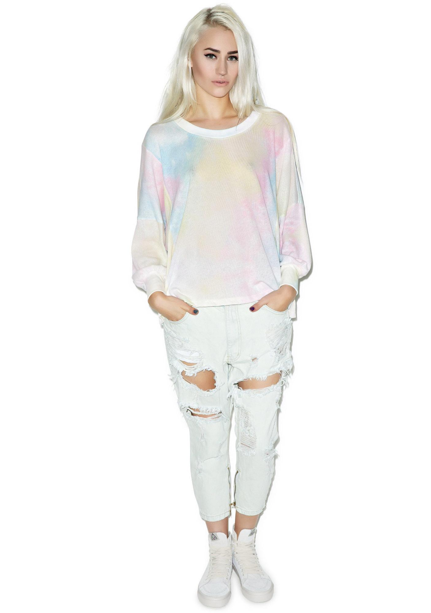 Wildfox Couture Dream Tie-Dye Nevada Jumper