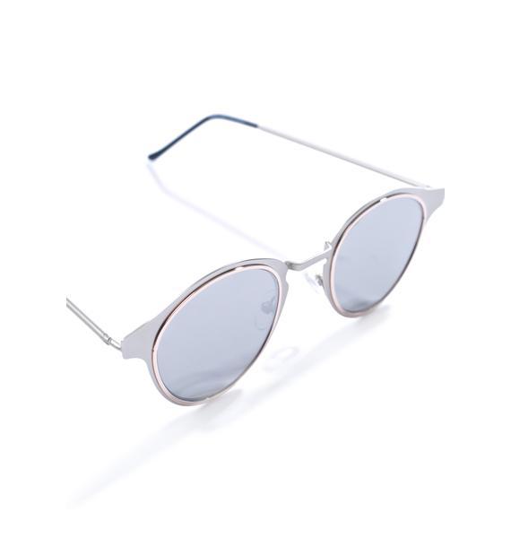 Spitfire Silver Warp Sunglasses
