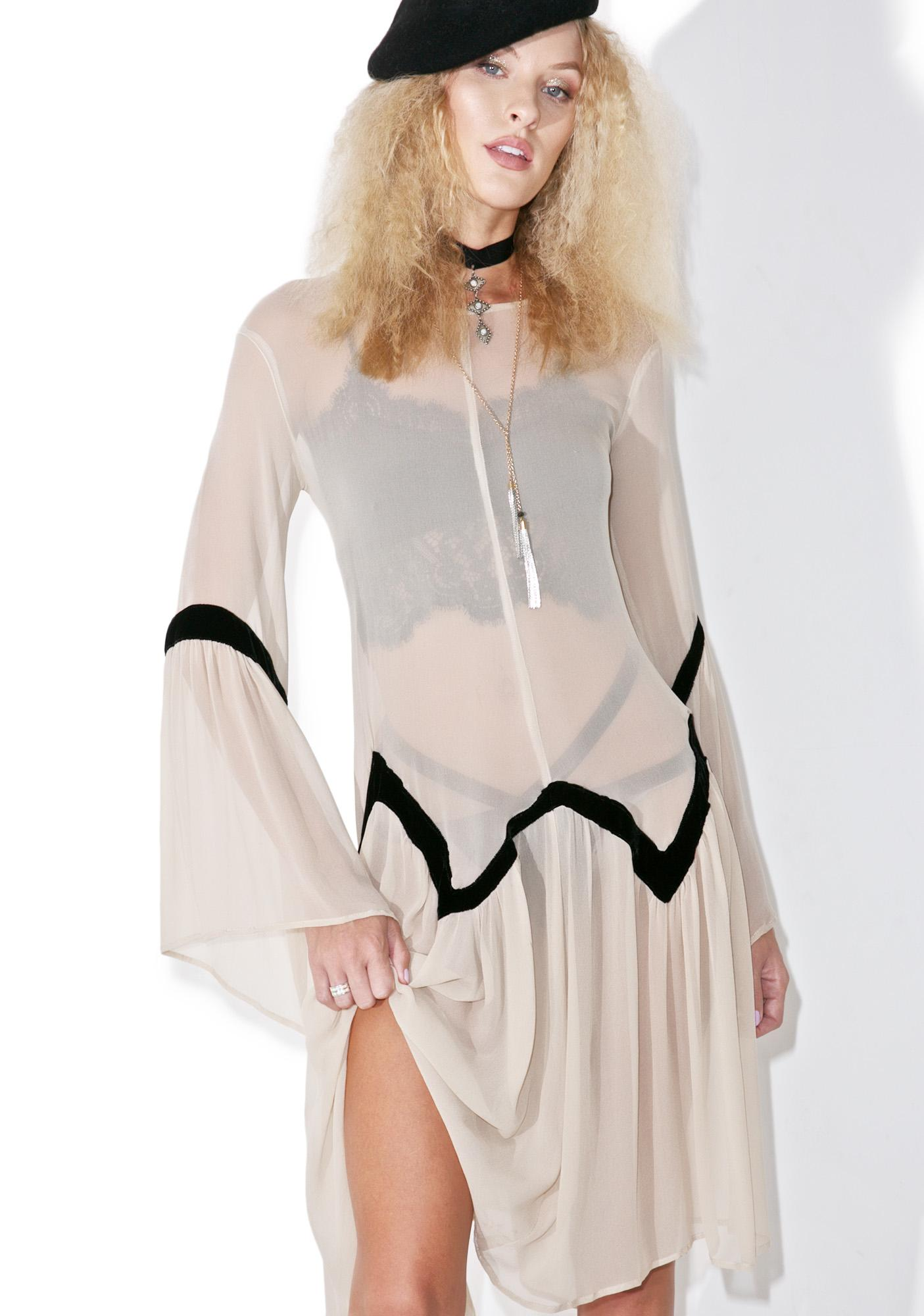 For Love & Lemons Adalyn Poncho Dress