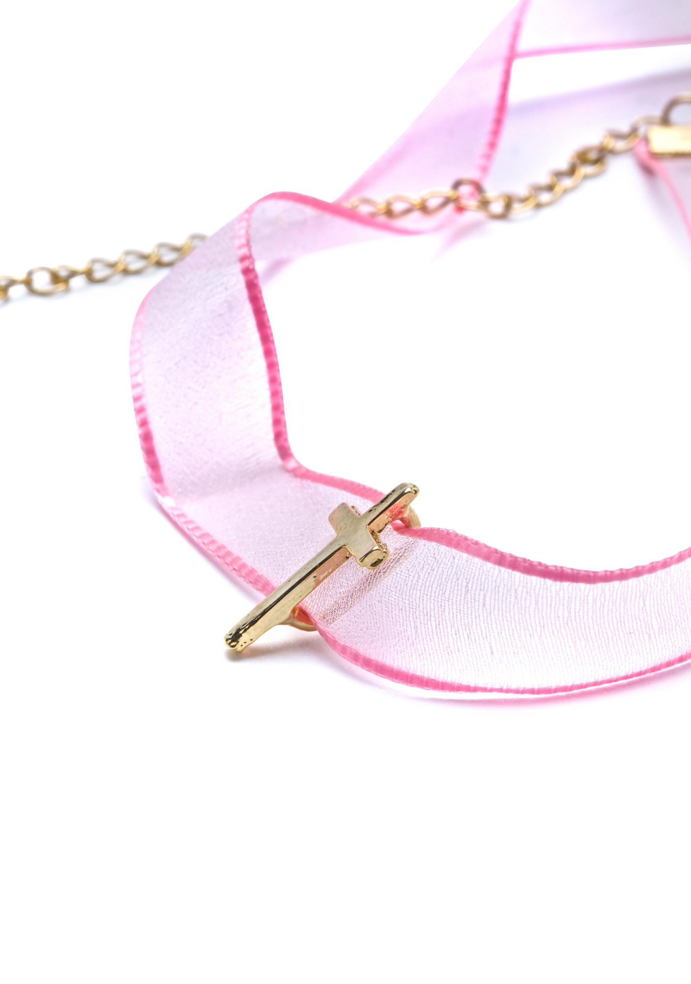 Sweet Chastity Sheer Choker
