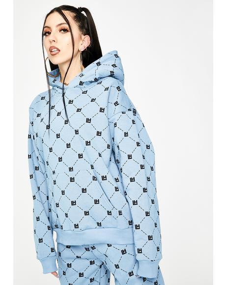 Blue Monogram Hoodie