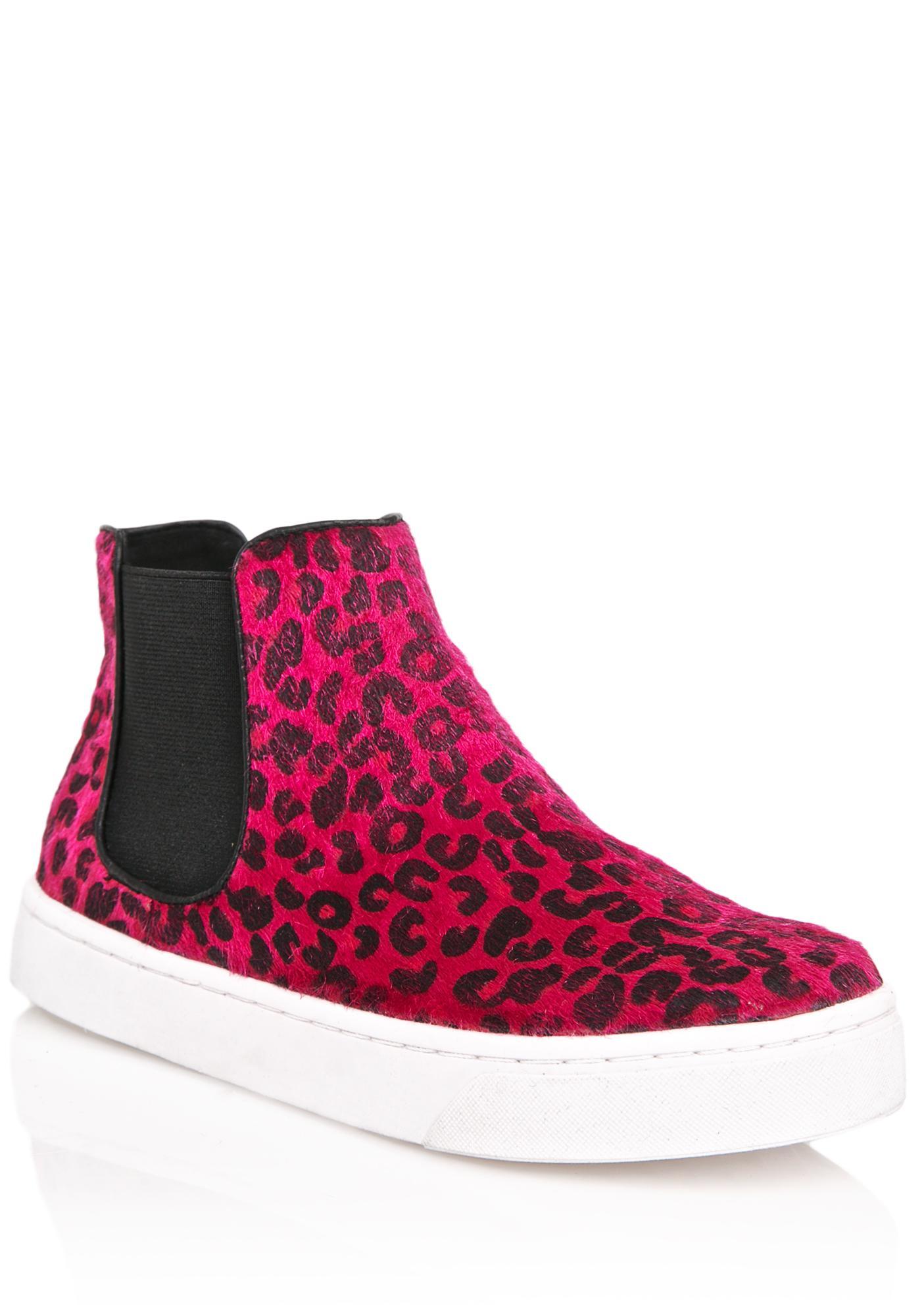 Josie High Top Leopard Sneakers