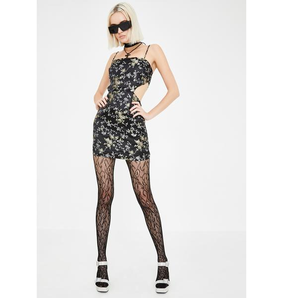 Lioness Black Steady As She Goes Mini Dress