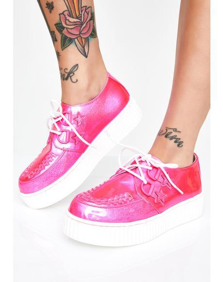 Krypt Pink Sparkle Kreepers