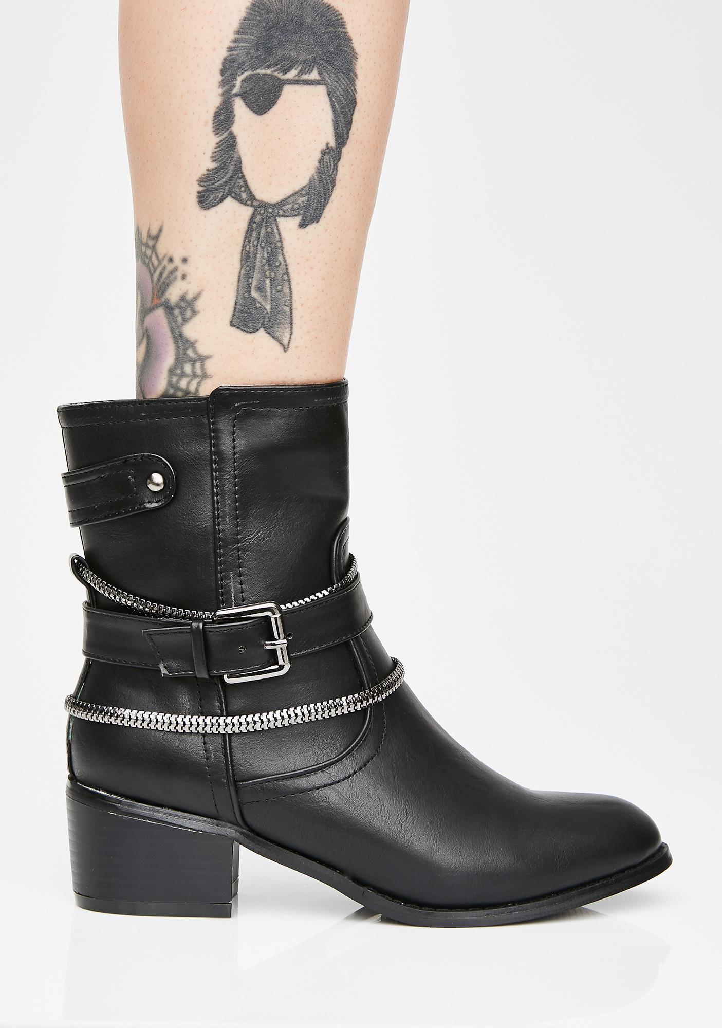 Nothing Nice Chain Booties
