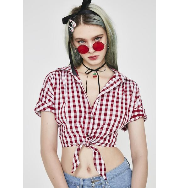 Forgive Me Gingham Top