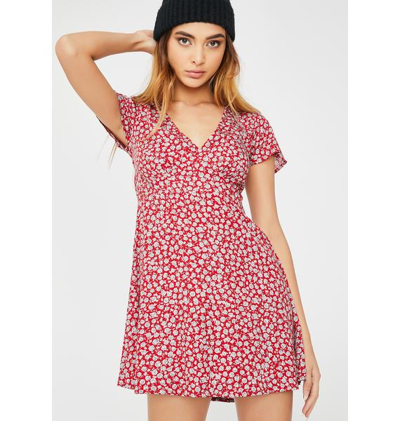 Motel Ditsy Rose Elara Dress