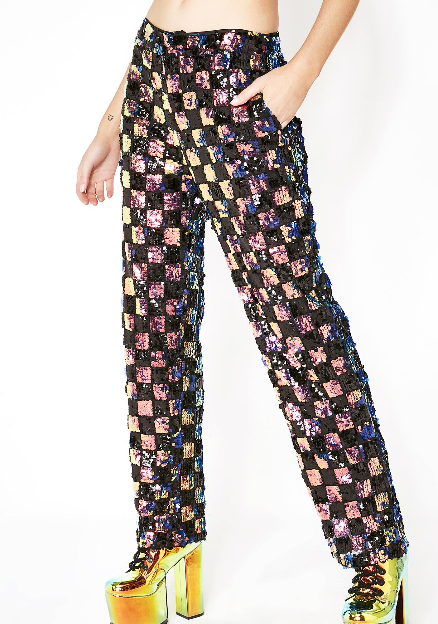 Space Race Sequin Trousers