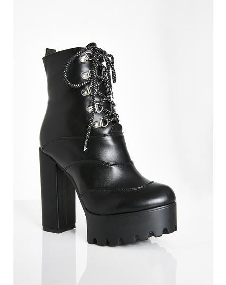 Sin Can U Keep Up Platform Boots