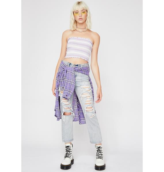 Lilac Caught My Attention Tube Top