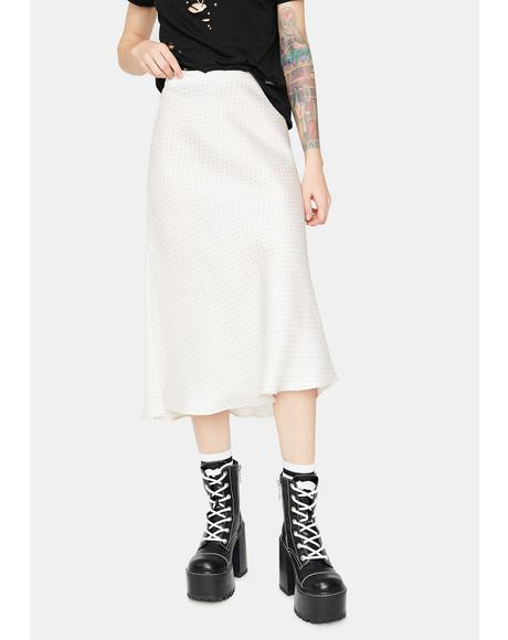 Care To Share Satin Midi Skirt