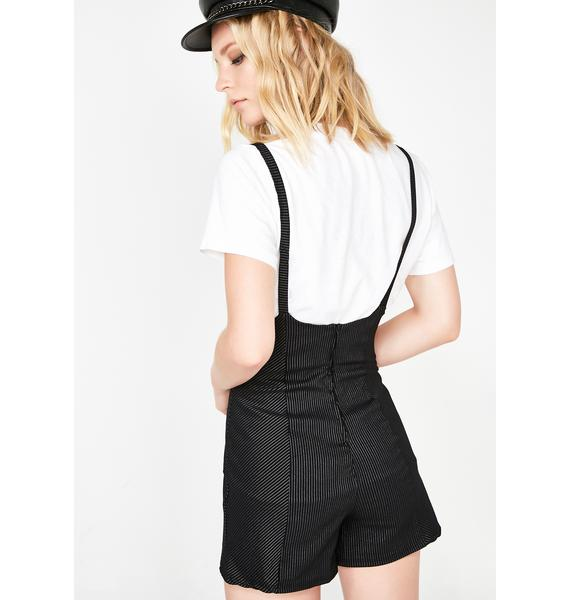 Party Conductor Pinstripe Shortalls
