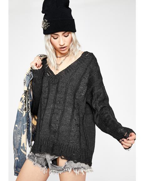Crazy Blaze Knit Sweater