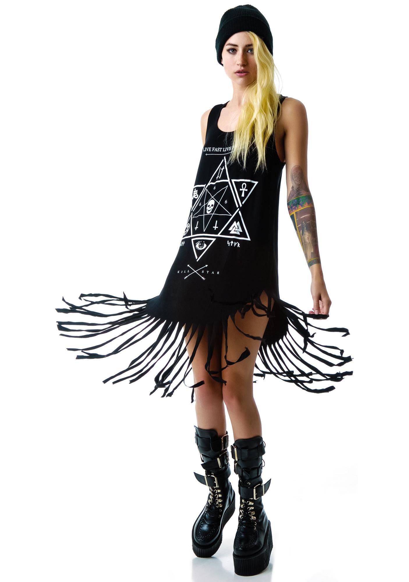 Killstar Witchcraft Fringe Dress