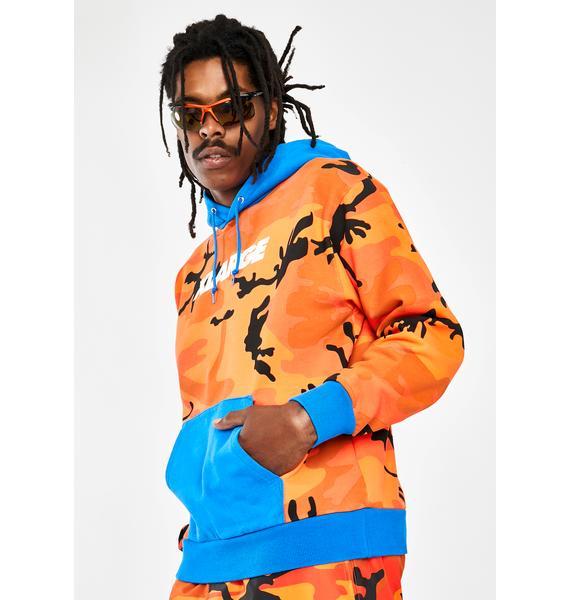 XLARGE Camo Pullover Hooded Sweatshirt