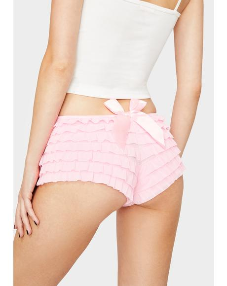 Blush Caught Feelings Ruffle Boyshorts