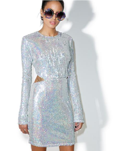 Luv Letter Sequin Mini Dress