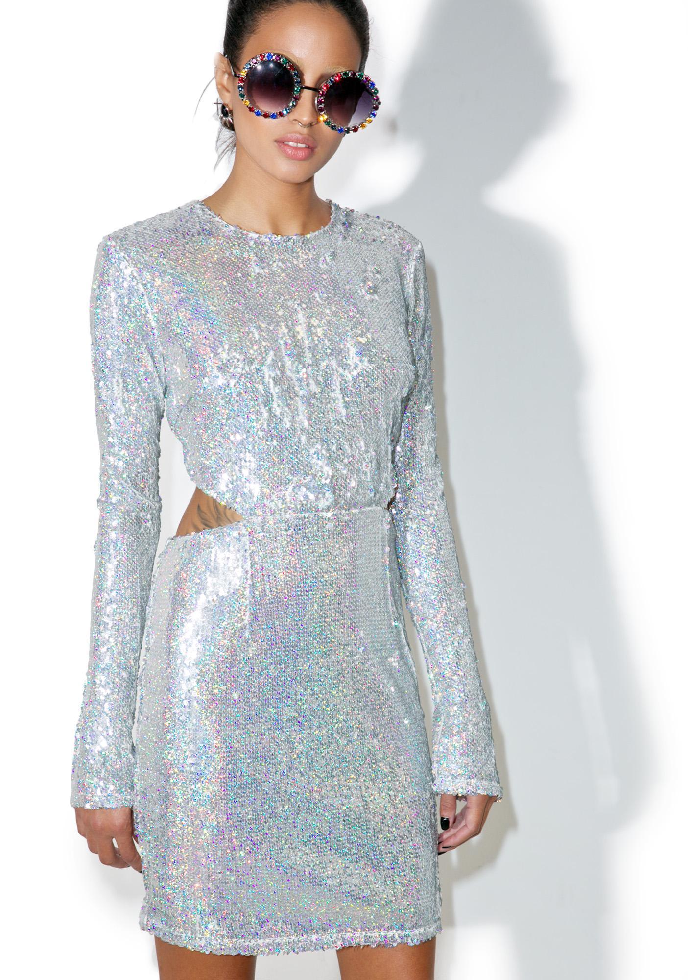 Glamorous Luv Letter Sequin Mini Dress