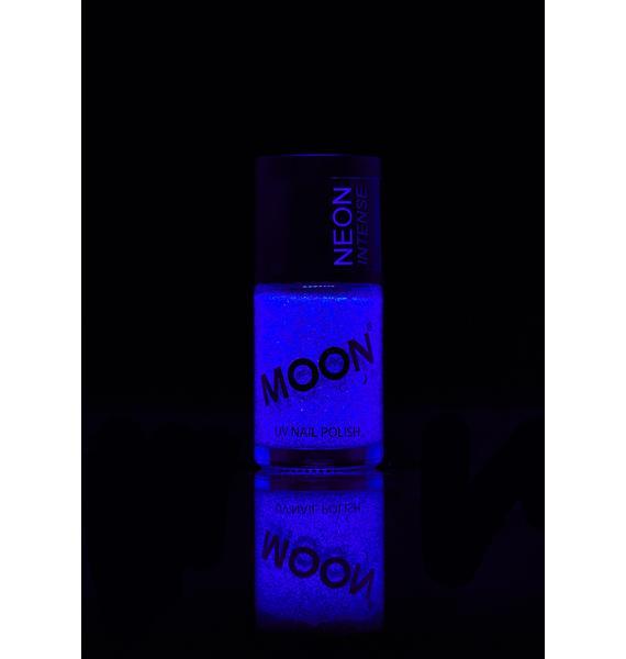 Moon Creations Neon Blue UV Glitter Nail Varnish