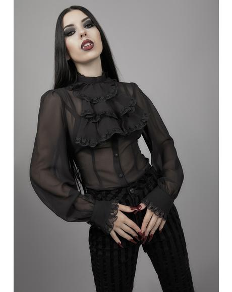 Noir I'm No Angel Chiffon Blouse