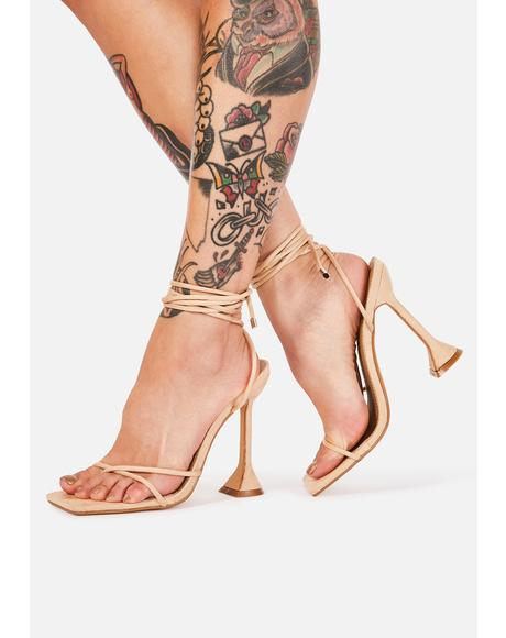 Bare Caught My Eye Wrap Heels