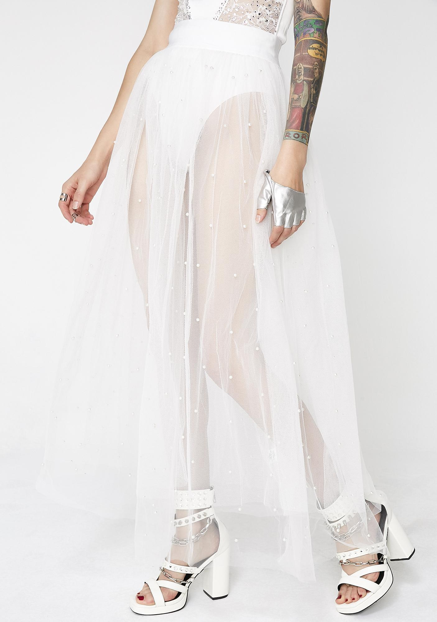 Icy Fake Fairytales Tulle Skirt