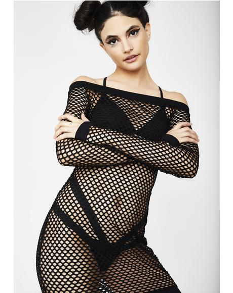Collateral Damage Fishnet Dress