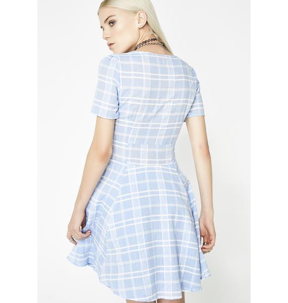 Too Hotty Plaid Dress
