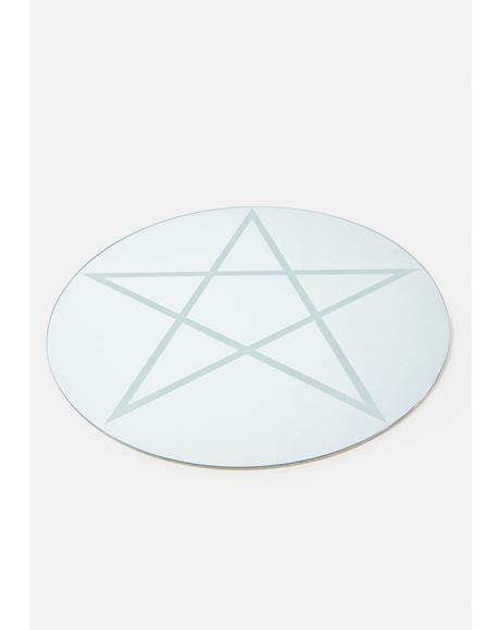 Round Pentagram Mirror