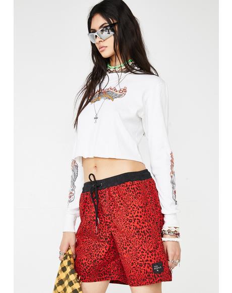Easy Boardie Leopard Shorts