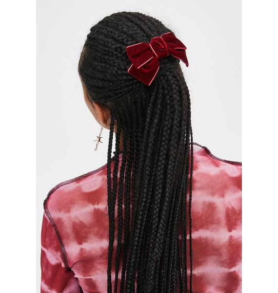 Hot Glitzy Grls Velvet Hair Bow
