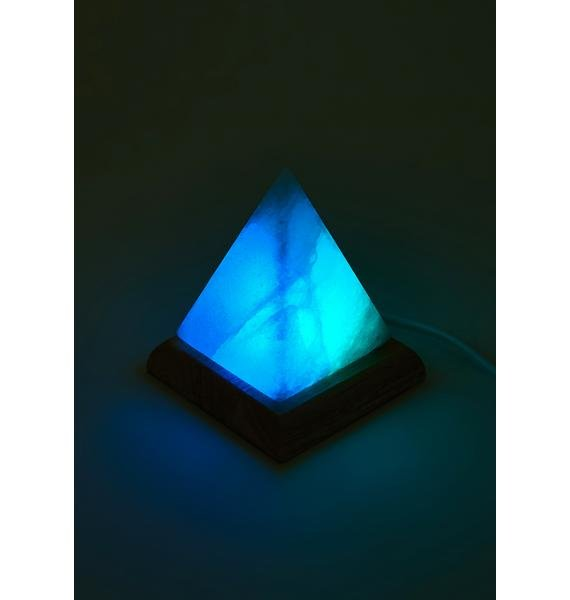 Mellow Your Mood Color Changing Pyramid Salt Lamp
