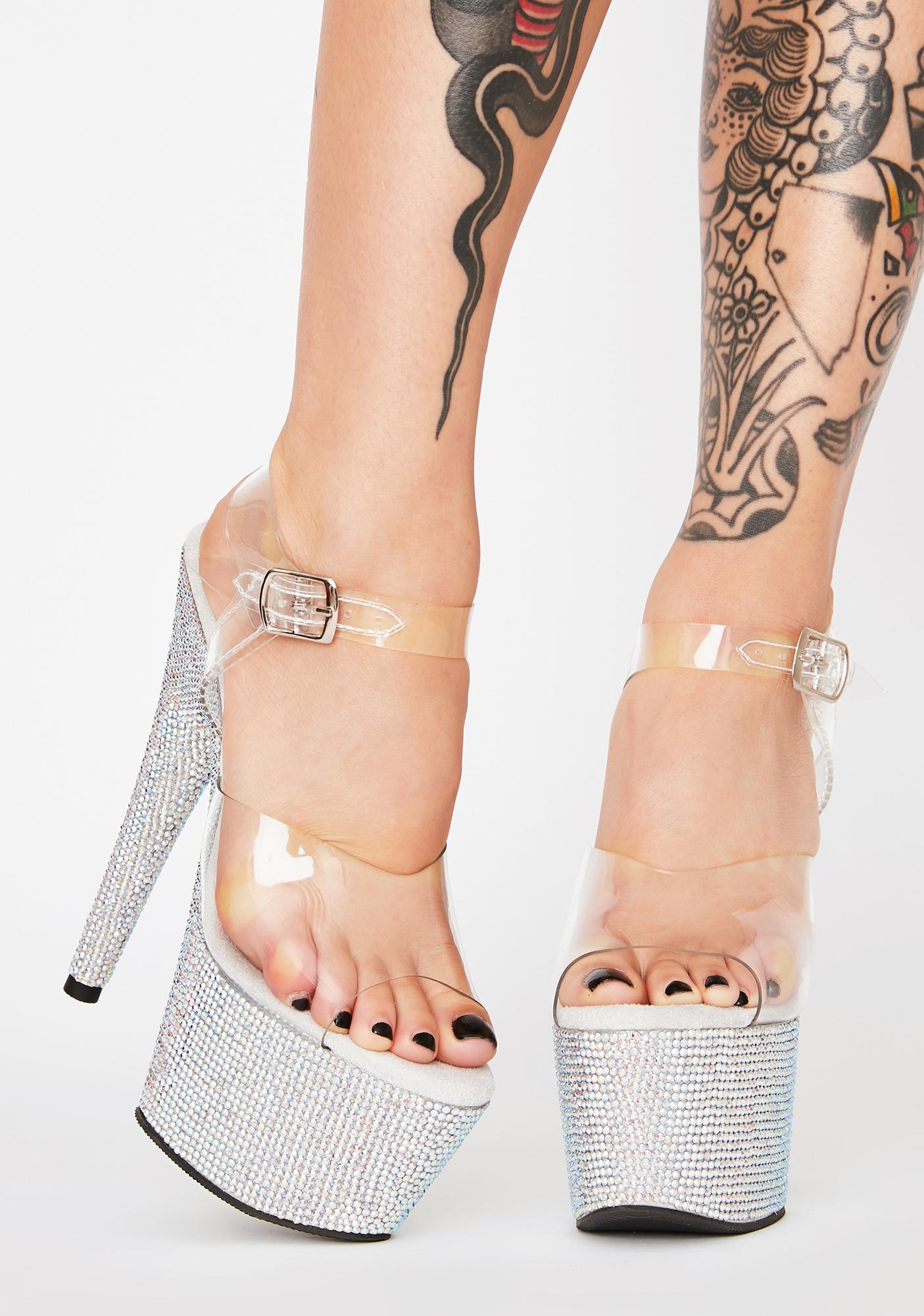 Pleaser Bejeweled Heels