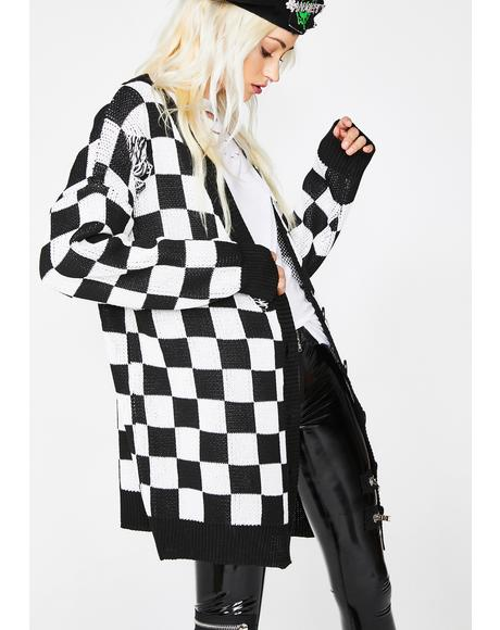 Square Me Up Checkered Cardigan