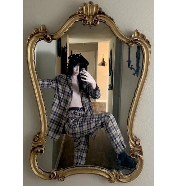 Nana Judy Tan Ebony Tapered Plaid Pants