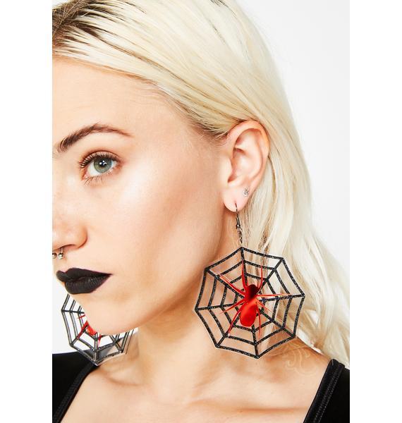 Web Crawler Spider Earrings