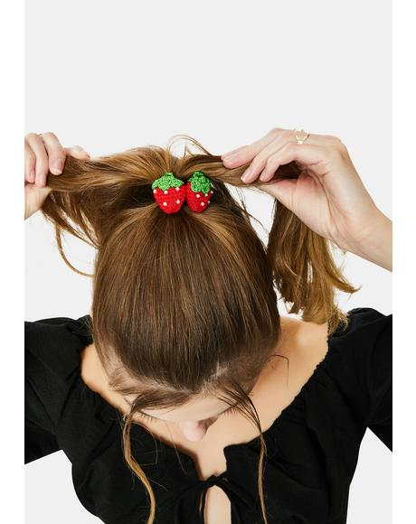 Small Town Summer Strawberry Hair Tie Set