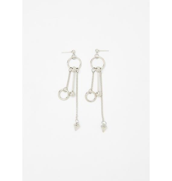 Re-Bound In Chains Drop Earrings