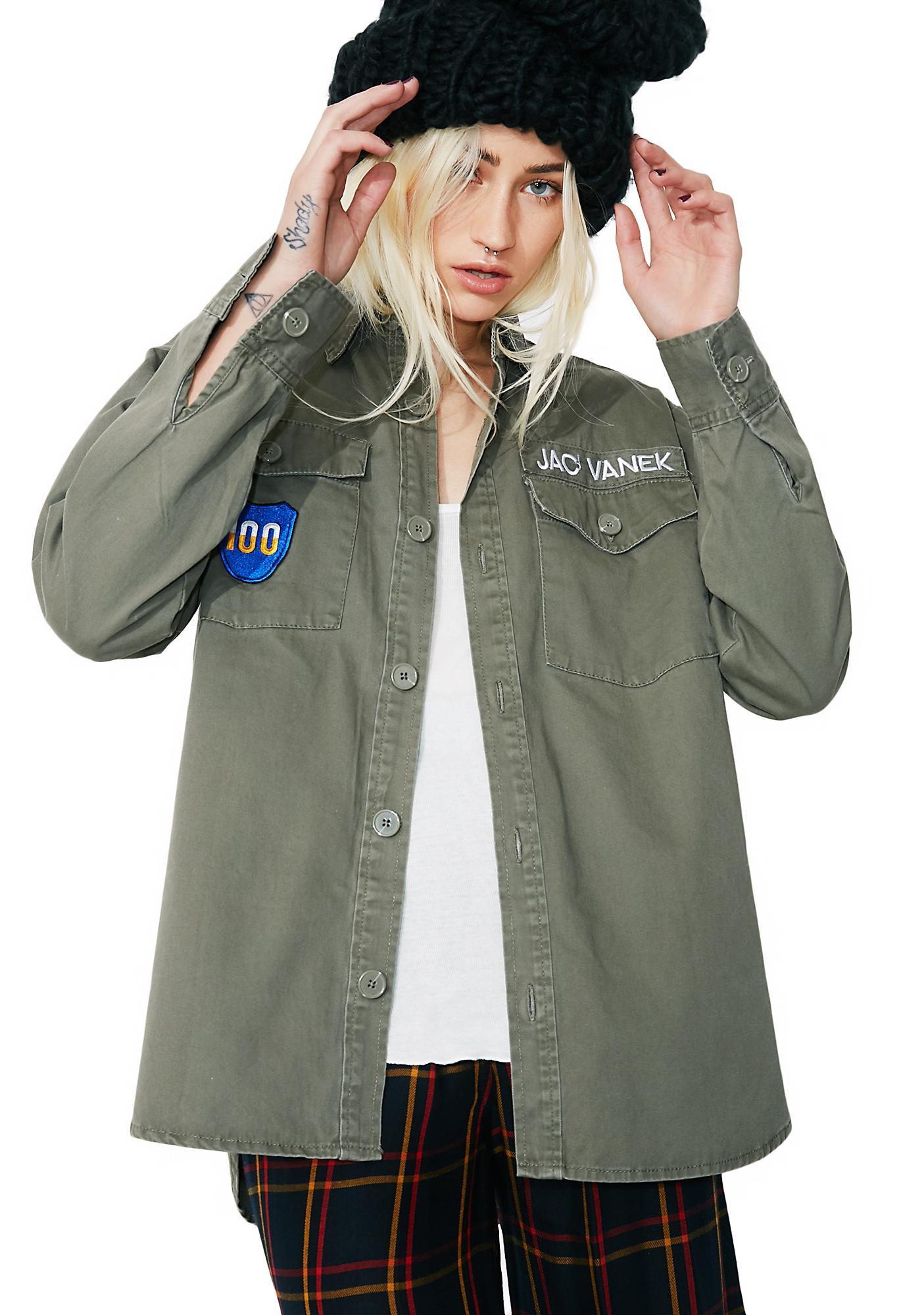 Jac Vanek Literally Dead Army Jacket