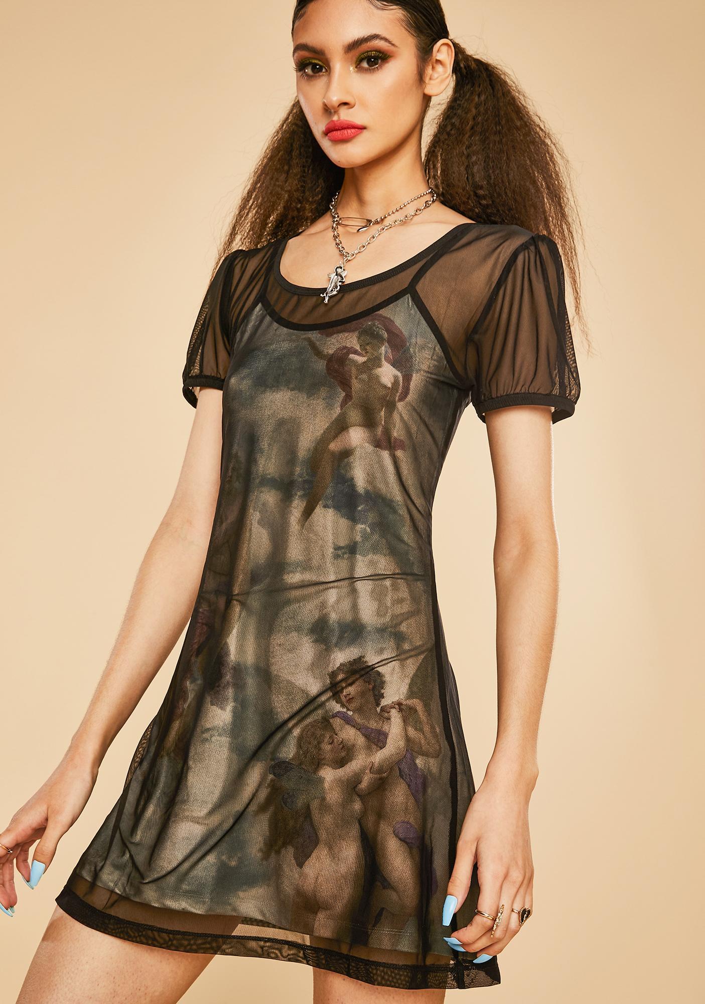 Current Mood Divine Creation Mesh Dress