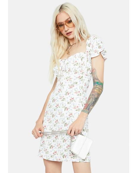 Merry Meadow Floral Front Tie Dress