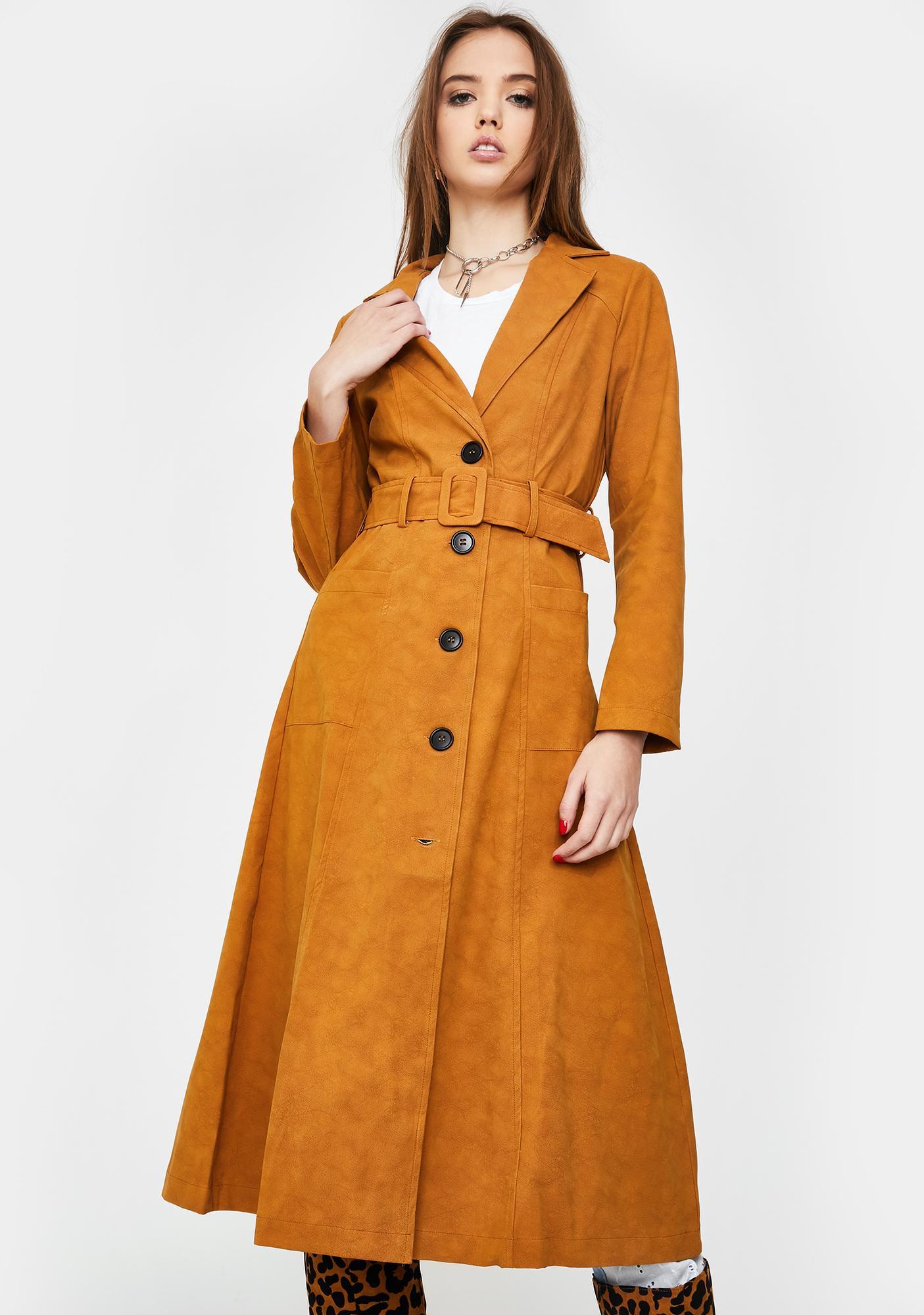 Honey Punch Cleo Trench Coat