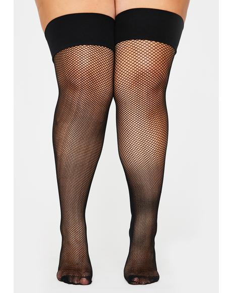 BB Scream My Name Fishnet Tights