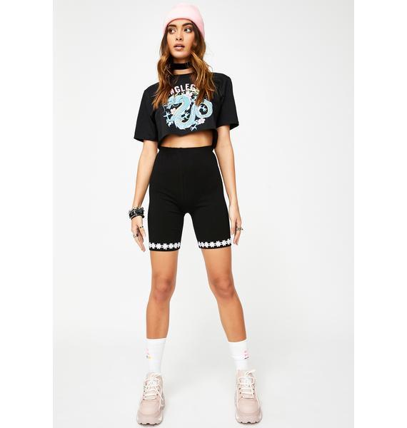 JUNGLECLUB CLOTHING Daisy Trim Shorts