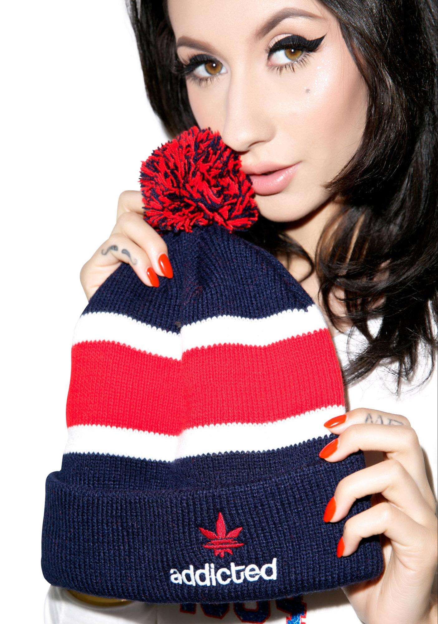 United Couture Addicted Boy Pom Pom Beanie