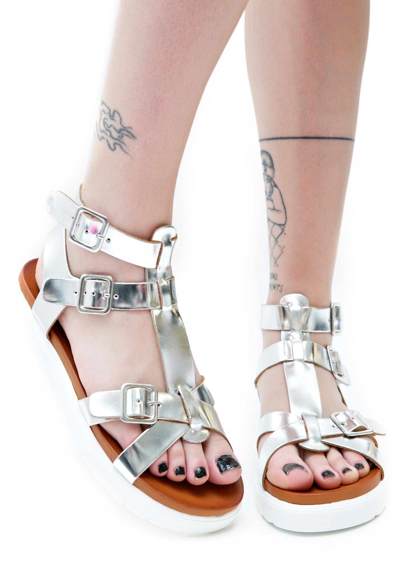 305ed6ea45e ... Vagabond Metallic Gladiator Sandals ...