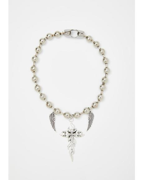Fierce Faith Wrap Necklace