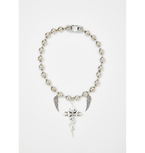 Fierce Faith Wrap Necklace