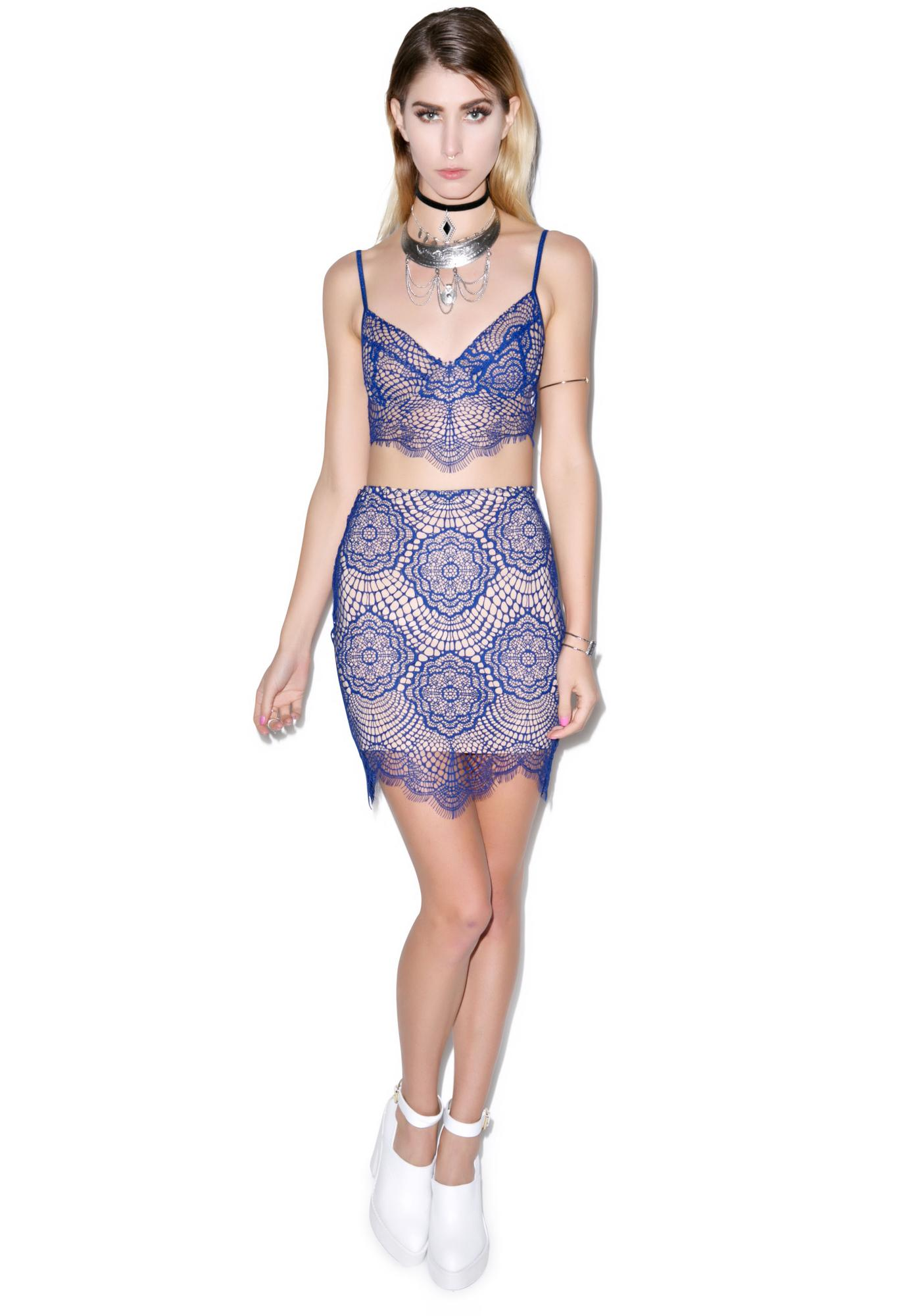 For Love & Lemons Grace Mini Skirt